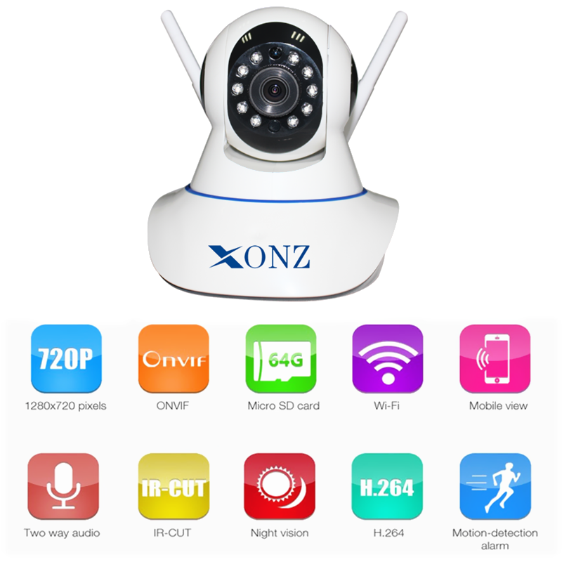 720P Wireless WiFi Pan Tilt Two Way Talk Network IP Cloud Camera Infrared Night View Motion Detection Monitoring Baby HD camera
