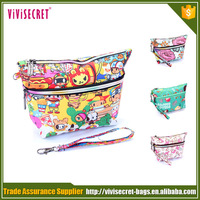 OEM Zipper portable cosmetic case Organizer gift pouch make up bags for girls