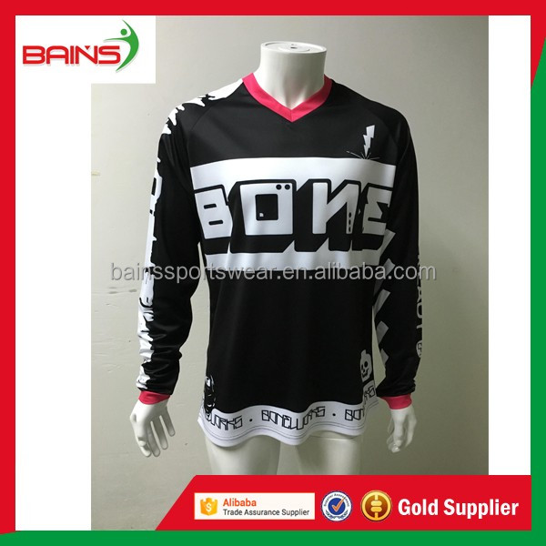 Polo collar short sleeve motocross jersey and pants
