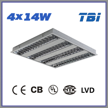 4x14w Recessed Louver Light Fixture with FluorescentT5 Tube
