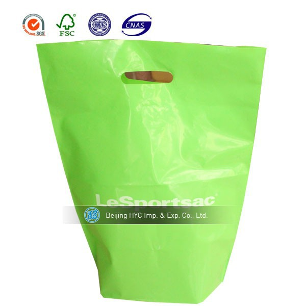 Colored Frosted Die Cut Convention Bag shopping bag coffee