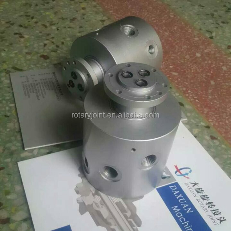"Triple G1/2"" Flange hydraulic swivel joint, Low Speed rpm Rotary Union"