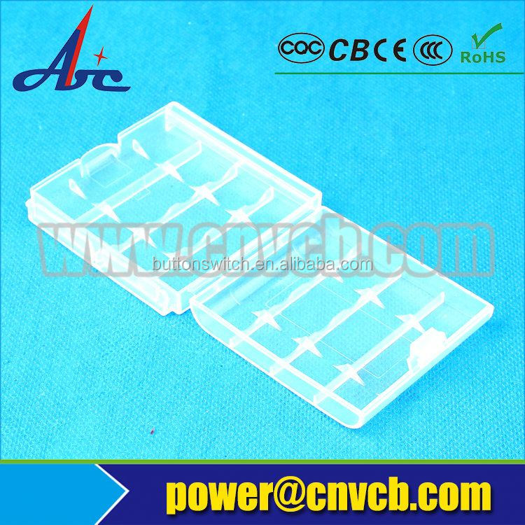 Colorful Transparent 18650 plastic battery case batery box case 18650 waterproof storage case