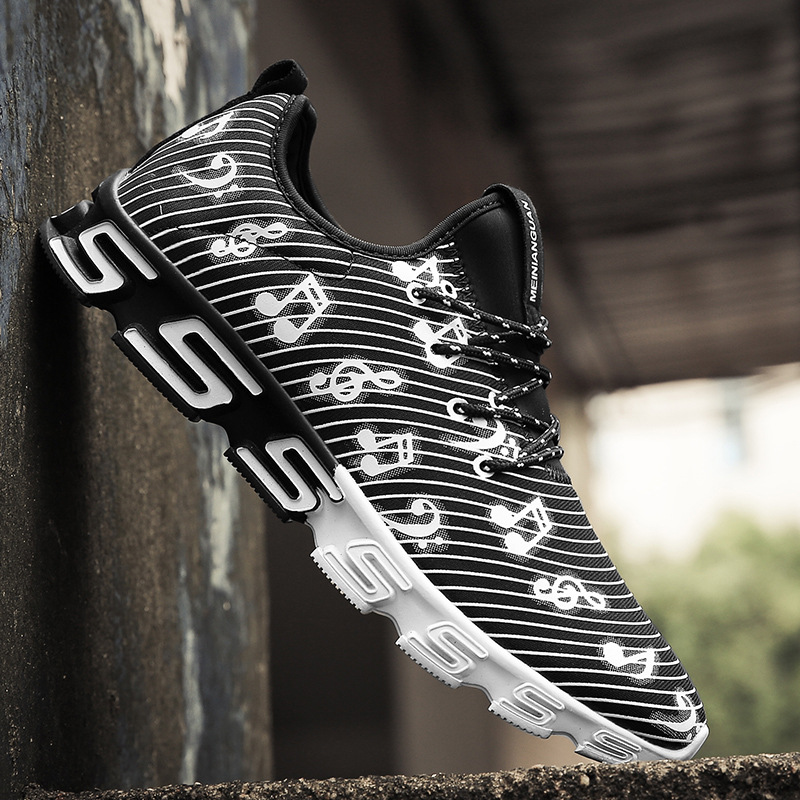 black note men printed jogging basketball shoes/forest cbd jogging causual sneakers travelling training sports trainers