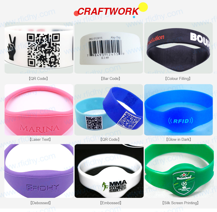 HYWGJ04 Writable MIFARE Ultralight RFID Chip Wristband RFIDHY