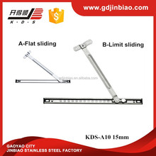 Stainless Steel Friction Hinges Friction Stays Arms,Casement/top Hung Window Hinge Wind Supporter(KDS-A10 15mm)