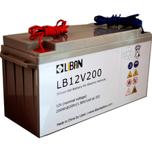 12V 200Ah Gel Deep Cycle Electric Rickshaw Battery