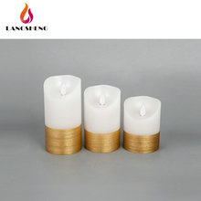 High quality widely use wholesale moving wick led luminara flameless candle