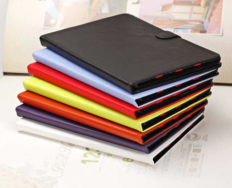 High quality cheap Colorful leather flip stand case for ipad air
