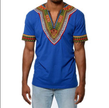 L2422A Wholesale cheap latest t shirts designs for African printing dashiki men clothing