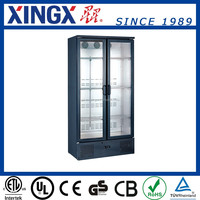 refrigerated display for wine bottles