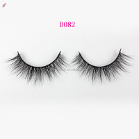 100%mink fur lash 3D thin creiss- cross false cosmetic eyelashes