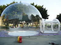Easy viewing through bubble clear inflatable tent/inflatable clear dome tent/camping inflatable clear tent