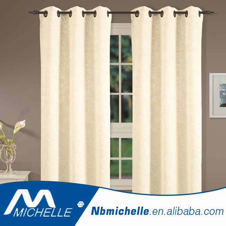 Solid blackout home window curtain