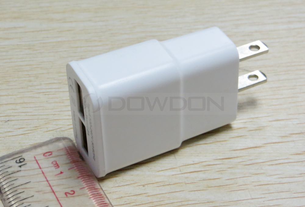 2A Dual USB Adapter Wall Charger for Samsung S4 S5 S6 S7 Note 3 4 5