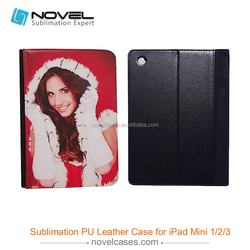 Hot selling !!! sublimation leather phone case for ipad mini 2