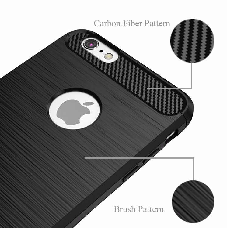 For iPhone 6 Covers Carbon Fiber TPU, Soft Carbon Fiber Phone Case For Apple iPhone 6
