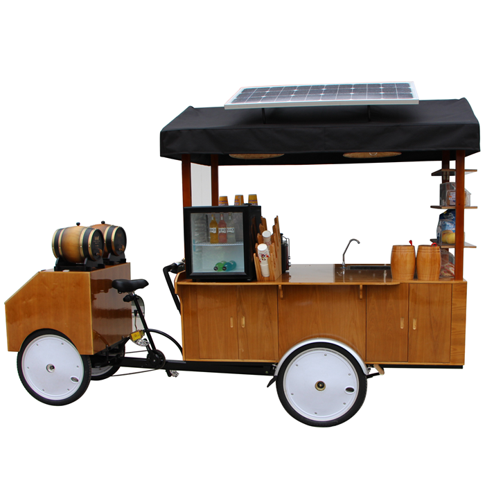 factory direct electric coffee bike catering trailer tricycle pedal