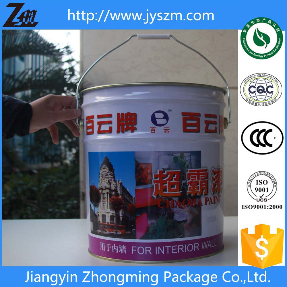 20L/liter/litre tin pail with lid & handle