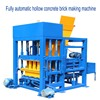 4-25 automatic hydraulic concrete sand lime hollow block and brick press moulding making machine