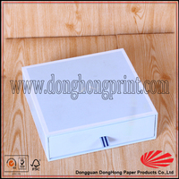 Japanese style gift white cardboard box drawing