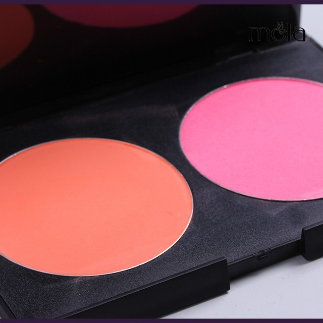 Make up palette chinese makeup brands 2 color blush compact powder boxes cosmetic cheek blusher