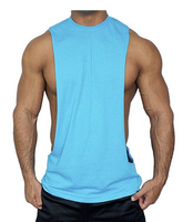 Casual Quick Dry Muscle Cut Stringer Workout T-shirt Tank For Bodybuilder