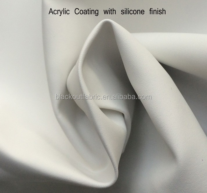 Faux Silk Material Blackout Fabric for Hotel Curtains and Draperies