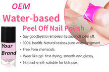 water base peel off nail polish with Your logo you Private Label