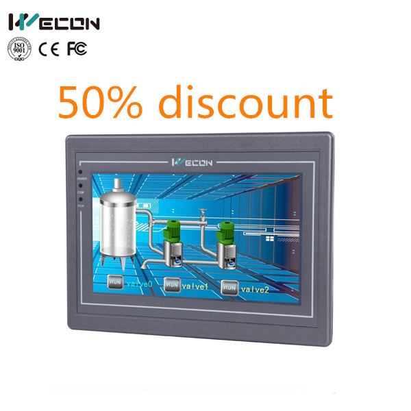 "Discount! Wecon 7""touch hmi linux tablet pc support wince and linux OS"