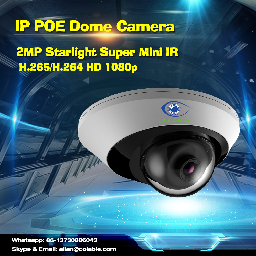 Cheap but quality HD COL-SV2251WUR1P 2MP Starlight Super Mini IR Dome Camera ip hd webcam