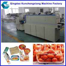 automatic cling film fruit flow packaging wrapping machine