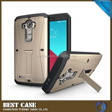 Hot Shockproof Waterproof 3 in 1 TPU+PC Tank armor case for LG G4 with Kickstand