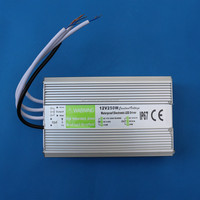 waterproof electronic led driver 250w, waterproof power supply 12v ac adapter for LEDs
