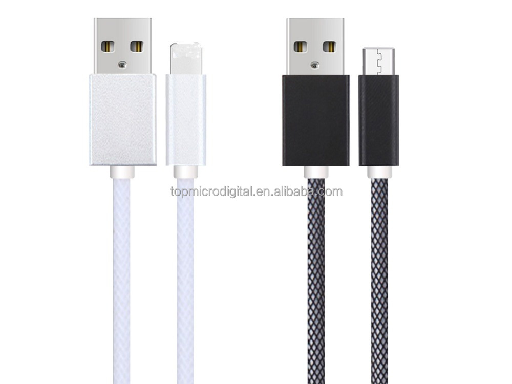 2015 new product fishing wet nylon braided usb cable fast charge data cable for Samsung