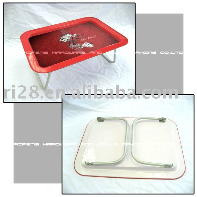 trays for food with metal legs