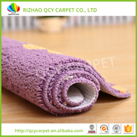 Factory custom qualified polyester floor shaggy carpet underlay