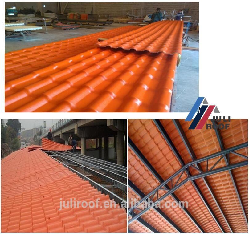 JULI high quality and fast installation ASA PVC UPVC roof tile for house roof