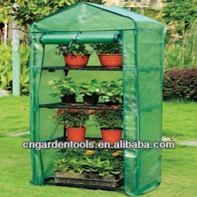 4 Tiers Mini PE Green House for Sale