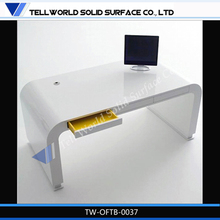 2014 new modern acrylic solid surface CEO/executive/boss luxury office table design