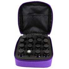 Essential oil bag with insert sponge foam for 16 vials of 5ml/10ml and 15ml