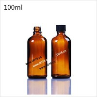100ml medical glass bottle with screw cap