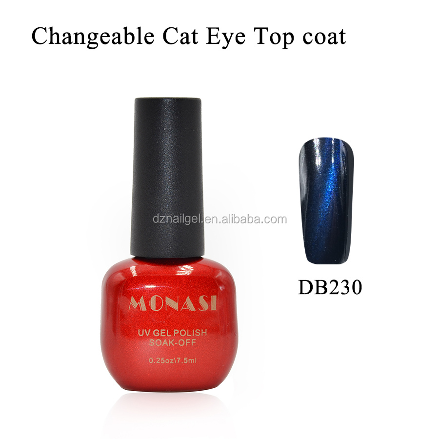 2016 the most competitive nail uv gel polish manufacturer eye cat top coat