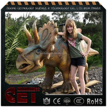 Cet-A-1097 roaring cute dinosaur riding models walking riding dinosaur models for outdoor and indoor