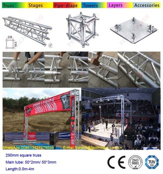 Aluminum truss start and finish line truss for racing event