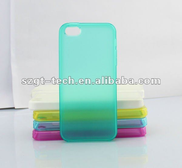 Multicolored TPU case for iPhone5 sandy pattern back cover case for mobile