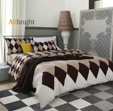 Allbright home designs flat sheet style 100% cotton single sheets bedding set