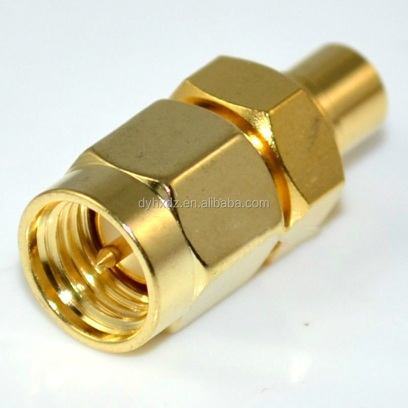 sma male plug to mcx female jack female straight RF Coax adapter connector