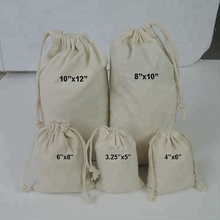 Wholesale 100% cotton eco friendly custom muslin cheap drawstring <strong>bags</strong>