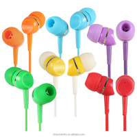 Factory customized 3.5mm in-ear style cheaap earphone christmas ear plug, electronic earmuff